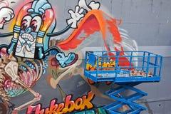 进展中街道的艺术 免版税图库摄影