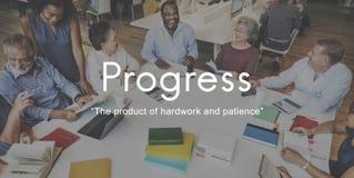进展产品Hardwork耐心图表概念 免版税图库摄影
