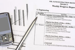进展报告 免版税库存图片
