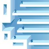进展选择工作流横幅-平的设计 免版税库存图片