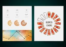 进展酒吧设计,装载的创造性 向量 免版税库存照片