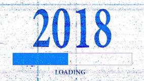 2018进展酒吧 库存例证