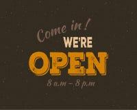 进来我们是开放的 免版税库存图片