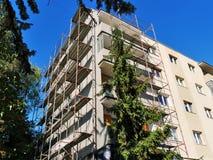 进行外部改造工程的公寓单元 免版税库存照片