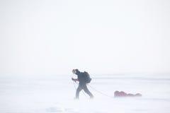 远征冬天 库存照片