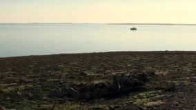 远征船在新的地球Vaigach上的海洋 股票视频