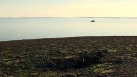 远征船在新的地球Vaigach上的海洋 影视素材