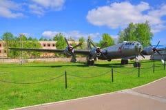 远的轰炸机Tu4在空军队博物馆在Monino 执行莫斯科地区俄国符号认为什么您 免版税库存照片