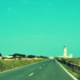 远的de la Mola在Formentera,巴利阿里群岛,西班牙 免版税库存照片