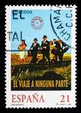 远航到无处,西班牙戏院serie,大约1997年 免版税库存照片