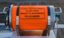 远航数据记录员 库存照片