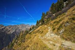 远足区域夏慕尼Mont Blanc 免版税库存图片