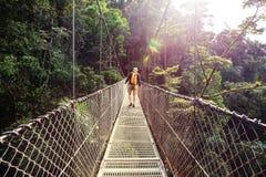 远足在哥斯达黎加 免版税图库摄影