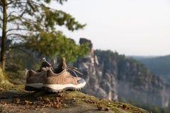 远足在撒克逊人的瑞士 图库摄影