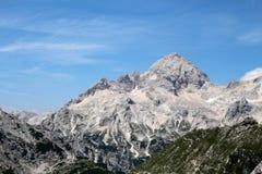 远足在斯洛文尼亚/特里格拉夫峰 库存图片