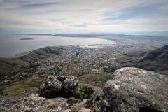 远足在桌山,开普敦,南非 免版税库存图片