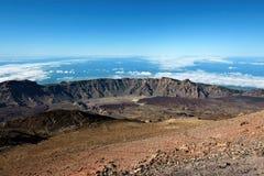 远足在泰德峰国家公园在特内里费岛加那利群岛,西班牙,欧洲 免版税库存图片
