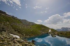 远足在阿尔卑斯弗利克斯 免版税图库摄影
