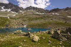 远足在阿尔卑斯弗利克斯 免版税库存照片