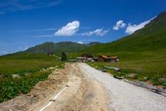 远足在阿尔卑斯弗利克斯 图库摄影