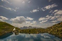 远足在阿尔卑斯弗利克斯 库存图片