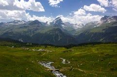 远足在阿尔卑斯弗利克斯 免版税库存图片