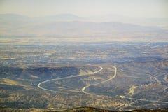 远足在Mt Baldy足迹 免版税库存图片
