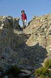 远足在sentier des cretes 库存照片
