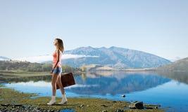 远足旅行的栓 免版税图库摄影
