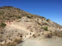 远足者在北部山公园,亚利桑那, AZ 免版税图库摄影
