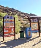 远足者在北部山公园,亚利桑那, AZ 免版税库存照片