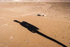 远足者的阴影 库存照片
