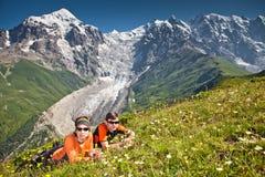 远足者采取其它 免版税图库摄影