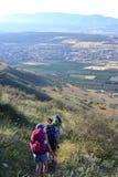远足耶稣足迹- Mt美丽的景色  阿尔贝尔在内盖夫加利利,加利利海,以色列的乡下 库存图片