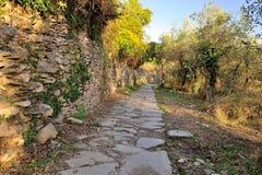 远足道路在五乡地,意大利 免版税库存照片