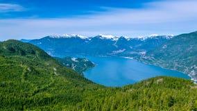 远足风景加拿大的风景夏天山 免版税库存照片