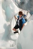 远足Fox冰川。 图库摄影