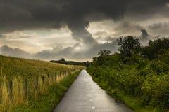 远足GR5足迹在比荷卢三国 免版税图库摄影