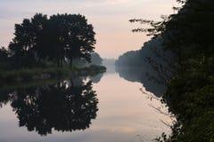 远足GR5足迹在比荷卢三国 免版税库存照片