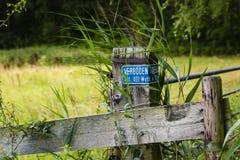 远足GR5足迹在比荷卢三国 库存照片