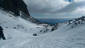 远足int的斯洛伐克Mlynicka dolina高的Tatras 免版税库存照片