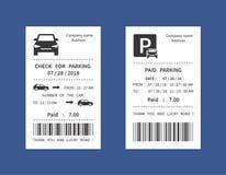 违规停车罚单,金钱惩罚收据被隔绝的传染媒介例证 向量例证