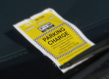 违规停车罚单 库存图片
