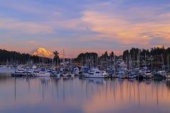违规记录港口, WA美国_2015年1月, 20 违规记录港口是在皮吉特湾的一种普遍的旅游业吸引力 免版税库存照片