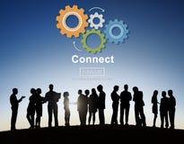 连接互作用队配合概念 免版税库存图片