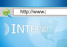 连接互联网 免版税库存照片
