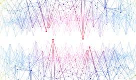 连接和通信 线和小点结构 库存照片