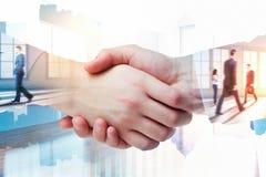 连接四个现有量合伙企业难题配合的概念 库存图片