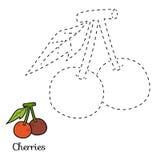 连接小点:水果和蔬菜(樱桃) 向量例证