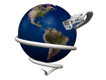 连接数互联网世界 库存照片